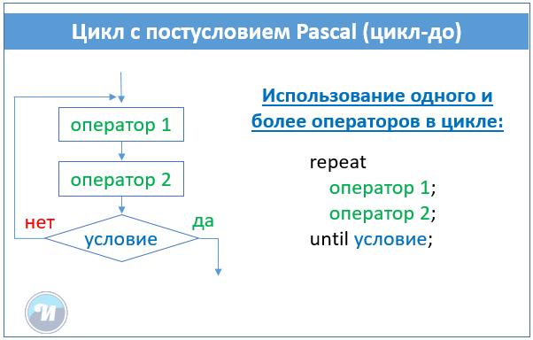 цикл repeat паскаль